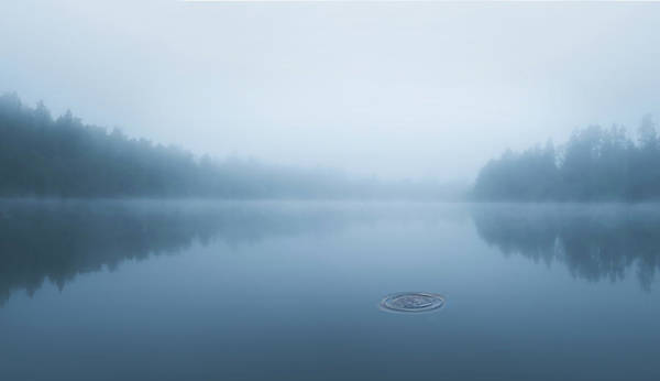Ripples Photograph - Ripple In The Water by Christian Lindsten