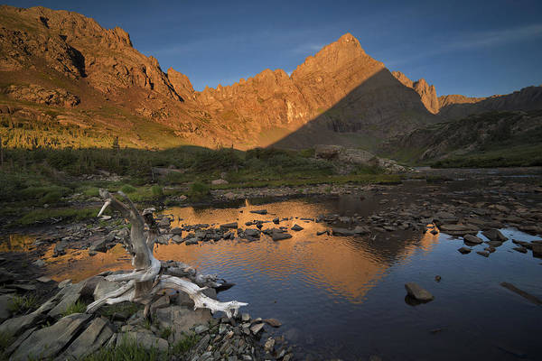 Sangre De Cristo Photograph - Rippled Reflections Of Crestone Needle by Mike Berenson