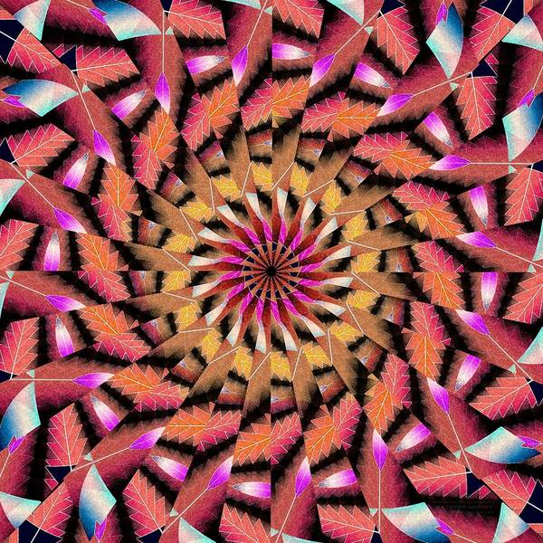 Sacred Geometry Drawing - Rippled Source Kaleidoscope by Derek Gedney