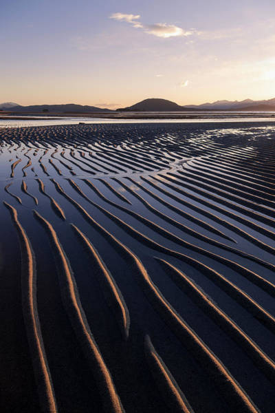 Juneau Photograph - Ripples Are Revealed As The Evening by John Hyde / Design Pics