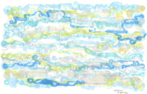 Drawing - Ripples by Regina Valluzzi
