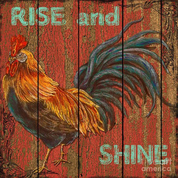 Rustic Mixed Media - Rise And Shine by Jean PLout