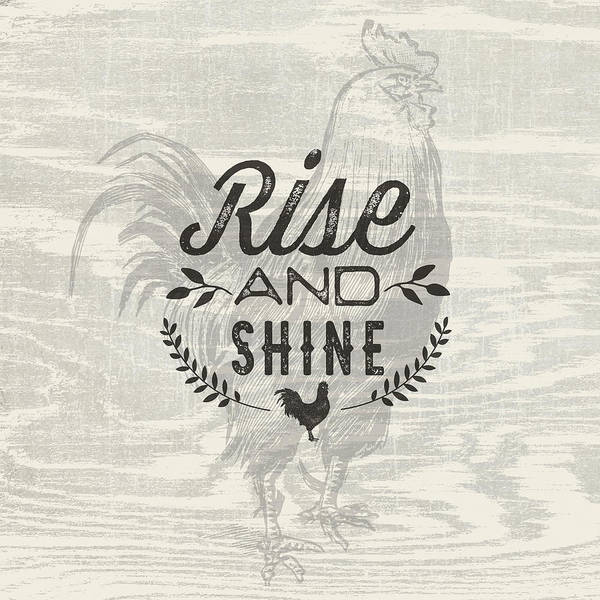 Farmhouse Kitchen Painting - Rise And Shine by Tammy Apple