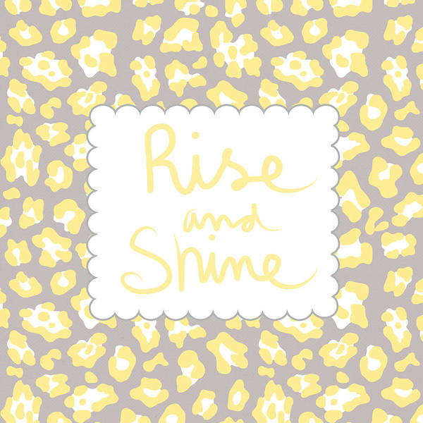 Words Mixed Media - Rise And Shine- Yellow And Grey by Linda Woods