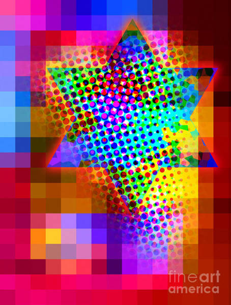Judaica Digital Art - Rising Star by Ari Rosenthal