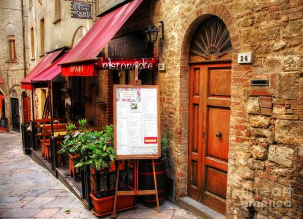 Photograph - Ristorante In Tuscany by Mel Steinhauer