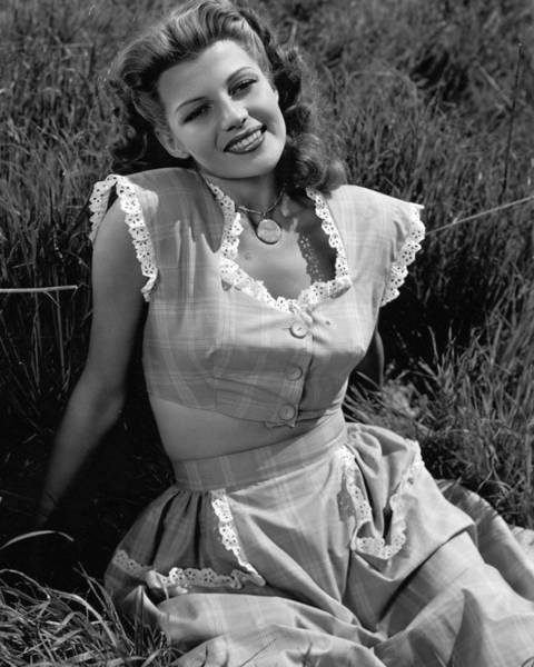 Gene Photograph - Rita Hayworth Classic Beauty by Retro Images Archive