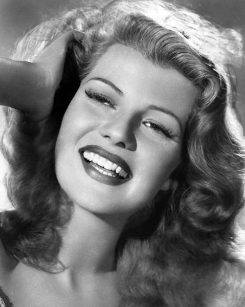 Gene Photograph - Rita Hayworth Hand In Hair by Retro Images Archive