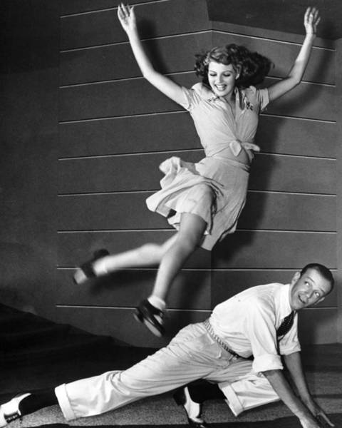 Gene Photograph - Rita Hayworth Jumping by Retro Images Archive