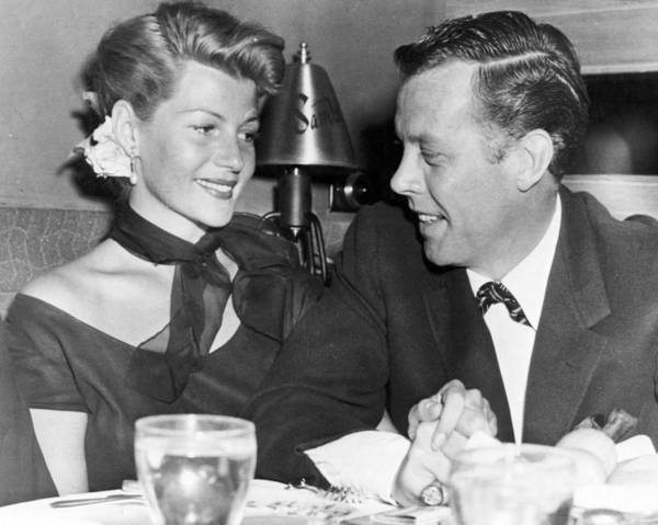 Gene Photograph - Rita Hayworth Out To Eat by Retro Images Archive
