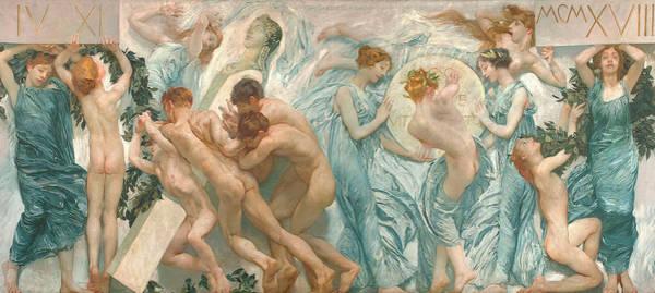 Blanket Painting - Rite by Sartorio Giulio Aristide