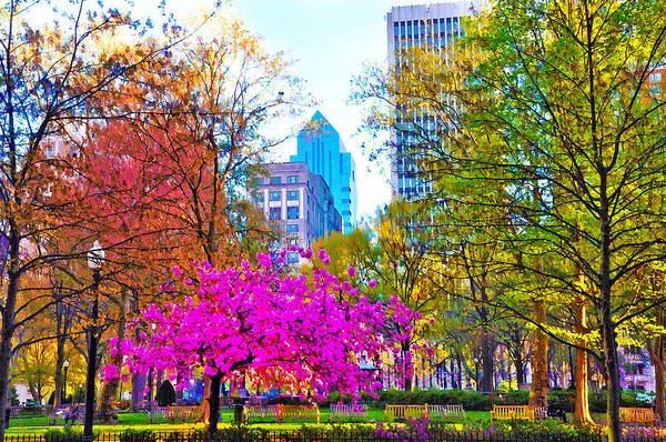 Rittenhouse Square Wall Art - Photograph - Rittenhouse Square Rendering by Bill Cannon