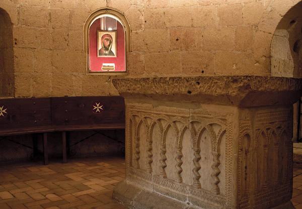 Photograph - Ritual Altar At Templar Church by Lorraine Devon Wilke