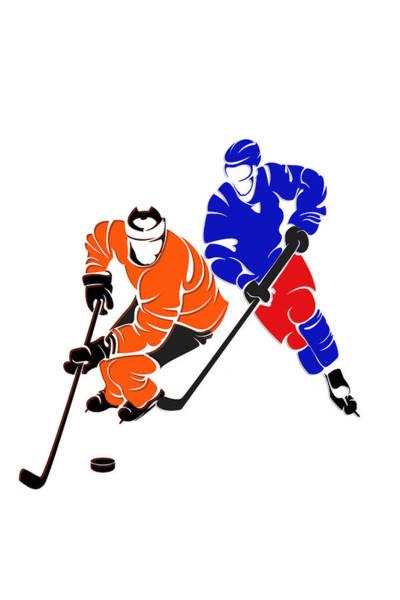 Flyers Photograph - Rivalries Flyers And Rangers by Joe Hamilton