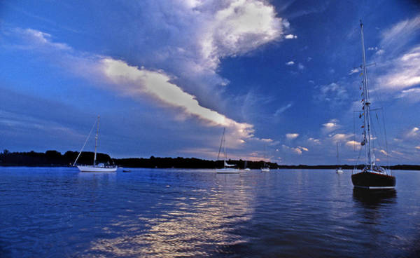Sailing Terms Photograph - River Anchorage by Skip Willits