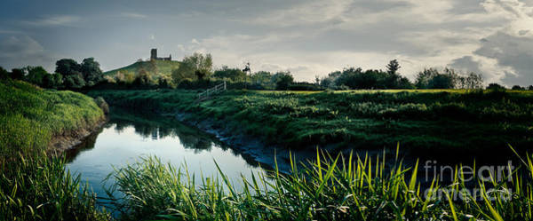 Somerset County Photograph - River And Burrow Mump by Simon Plant