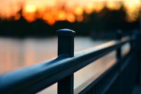 Fence Post Photograph - River Bridge by Laura Fasulo