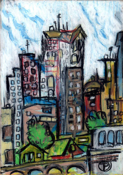 Painting - River City II by Todd  Peterson