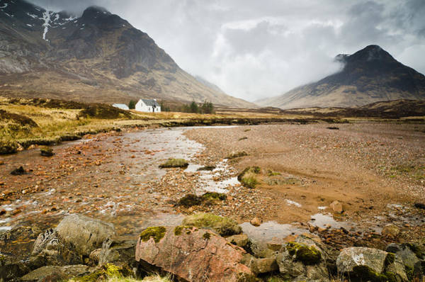 River Coupall In Glen Coe Art Print