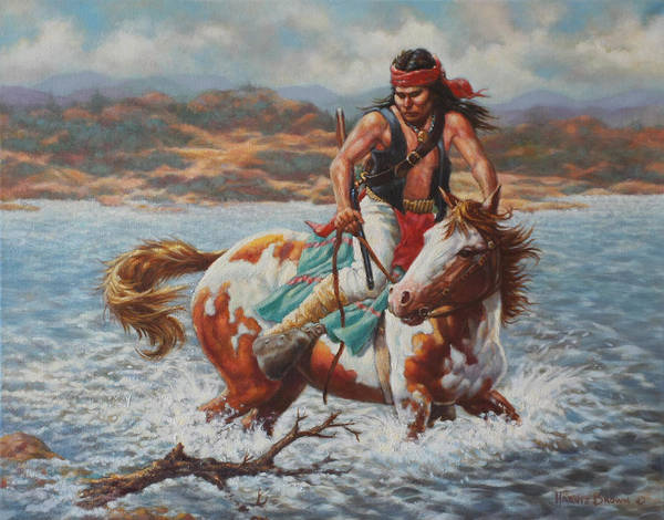 Wall Art - Painting - River Crossing by Harvie Brown