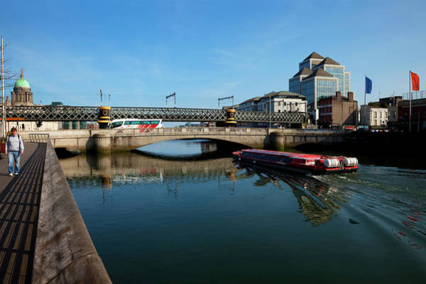River Liffey Wall Art - Photograph - River Cruiser Going Therough The Butt by Panoramic Images