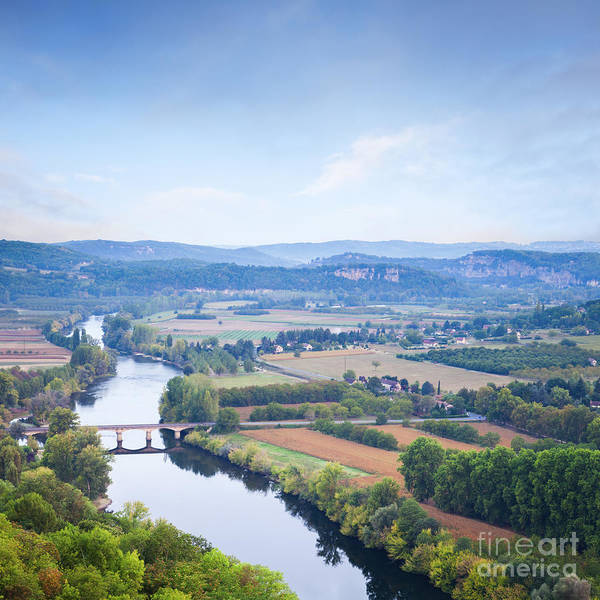 Wall Art - Photograph - River Dordogne From Domme Aquitaine France by Colin and Linda McKie