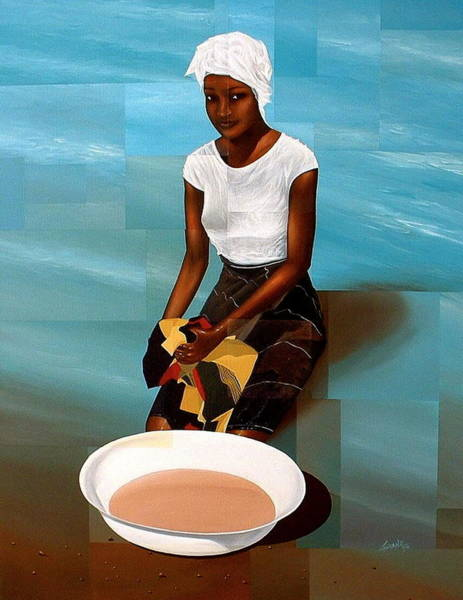 Painting - River Edge by Laurend Doumba
