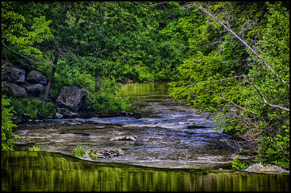 Photograph - River Flow-oil Paint by Mark Myhaver