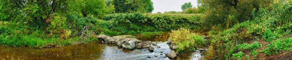 Peacefulness Photograph - River Flowing Through A Forest, Acadia by Panoramic Images