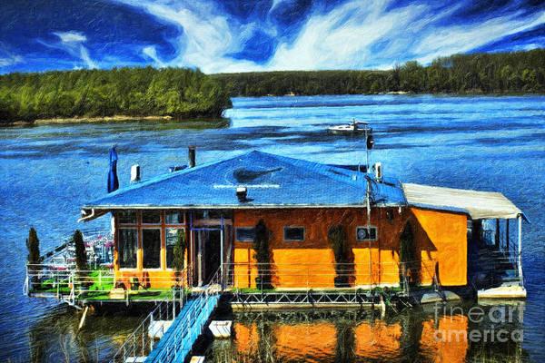 European Vacation Mixed Media - River House by Milan Karadzic