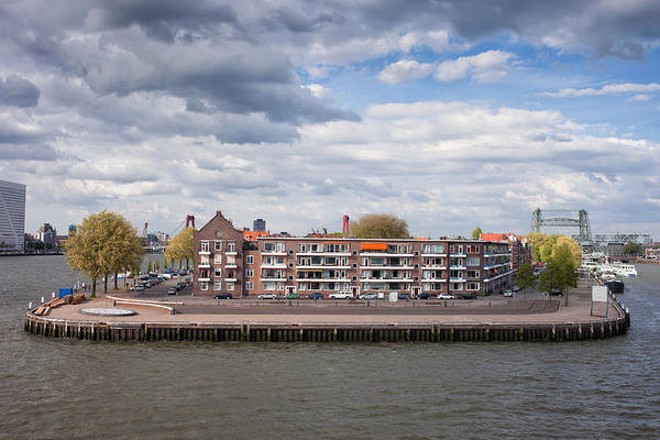 Wall Art - Photograph - River Island With Houses In Rotterdam by Artur Bogacki