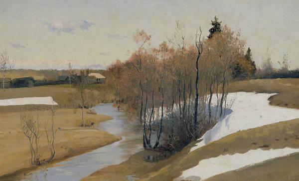 Russian River Painting - River Kordonka by Andrei Petrovich Ryabushkin