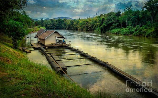 Raft Wall Art - Photograph - River Kwai Kanchanaburi  by Adrian Evans