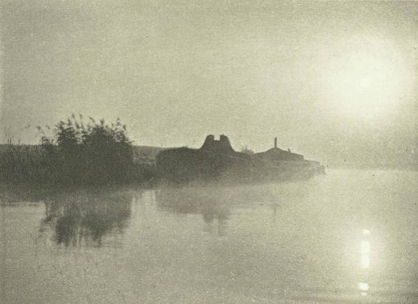 Mist Drawing - River Landscape In The Mist At Dawn, Peter Henry Emerson by Artokoloro