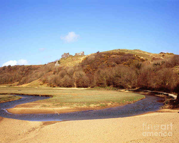 Photograph - River Loop And Pennard Castle by Paul Cowan