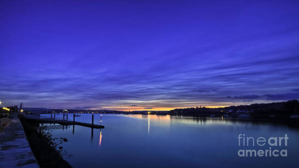 Chatham Photograph - River Medway Blue Hour by Nigel Jones