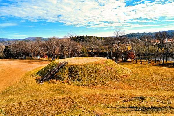 Wall Art - Photograph - River Mountains And Indian Mound by James Potts