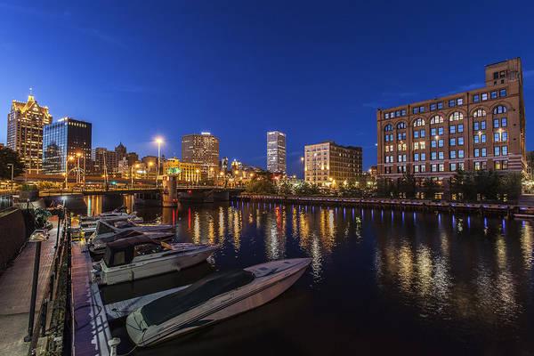 Blue Hour Photograph - River Nights by CJ Schmit