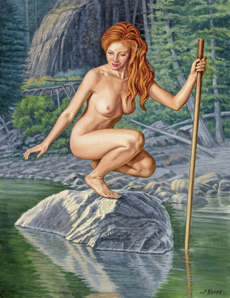 Wall Art - Painting - River Nymph by Paul Krapf