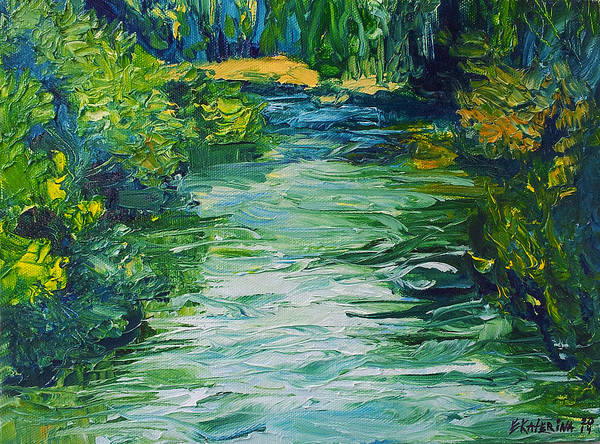 Painting - River Painting by Ekaterina Chernova