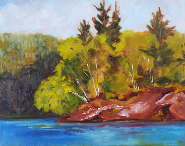 Wall Art - Painting - River Point by Nancy Merkle