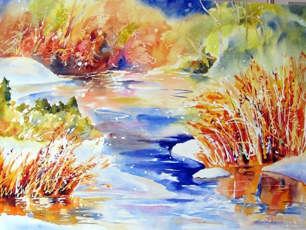 Painting - River Reeds by John Nussbaum