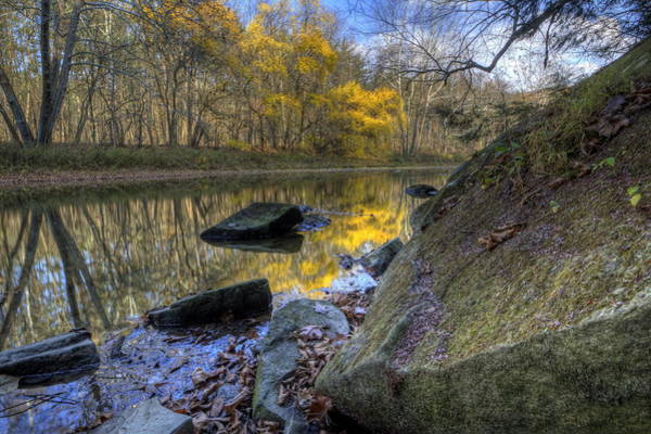Photograph - River Reflection In Fall by David Dufresne