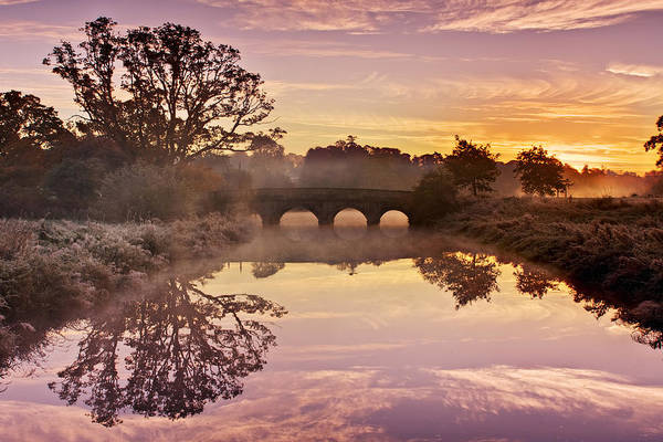 Photograph - River Reflections At Sunrise / Maynooth by Barry O Carroll
