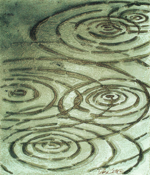 Wall Art - Painting - River Ripples by Rosemary Craig