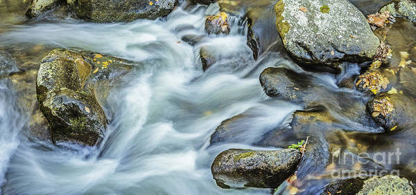 Photograph - River Rock And Flowing Water by David Waldrop