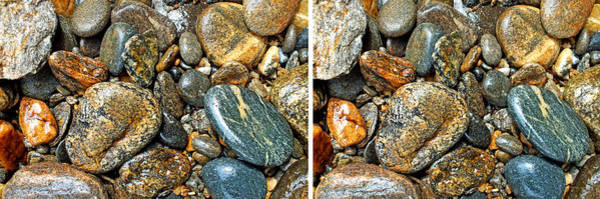 Photograph - River Rocks 14 In Stereo by Duane McCullough