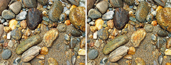 Photograph - River Rocks 17 In Stereo by Duane McCullough
