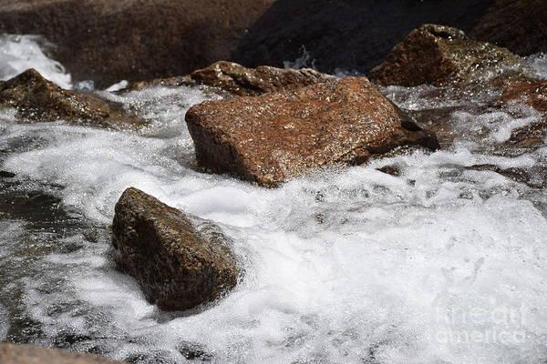 Helen Hunt Falls Photograph - River Rocks by Shar Schermer