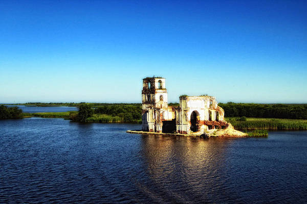 Cathedral Of Christ The Savior Photograph - River Ruins by Linda Dunn